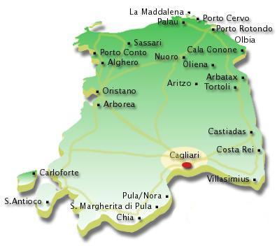 Cartina Geografica Di Cagliari.Mappa Di Cagliari Mappe Di Cagliari